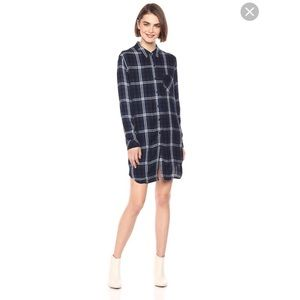 Rails flannel shirt dress